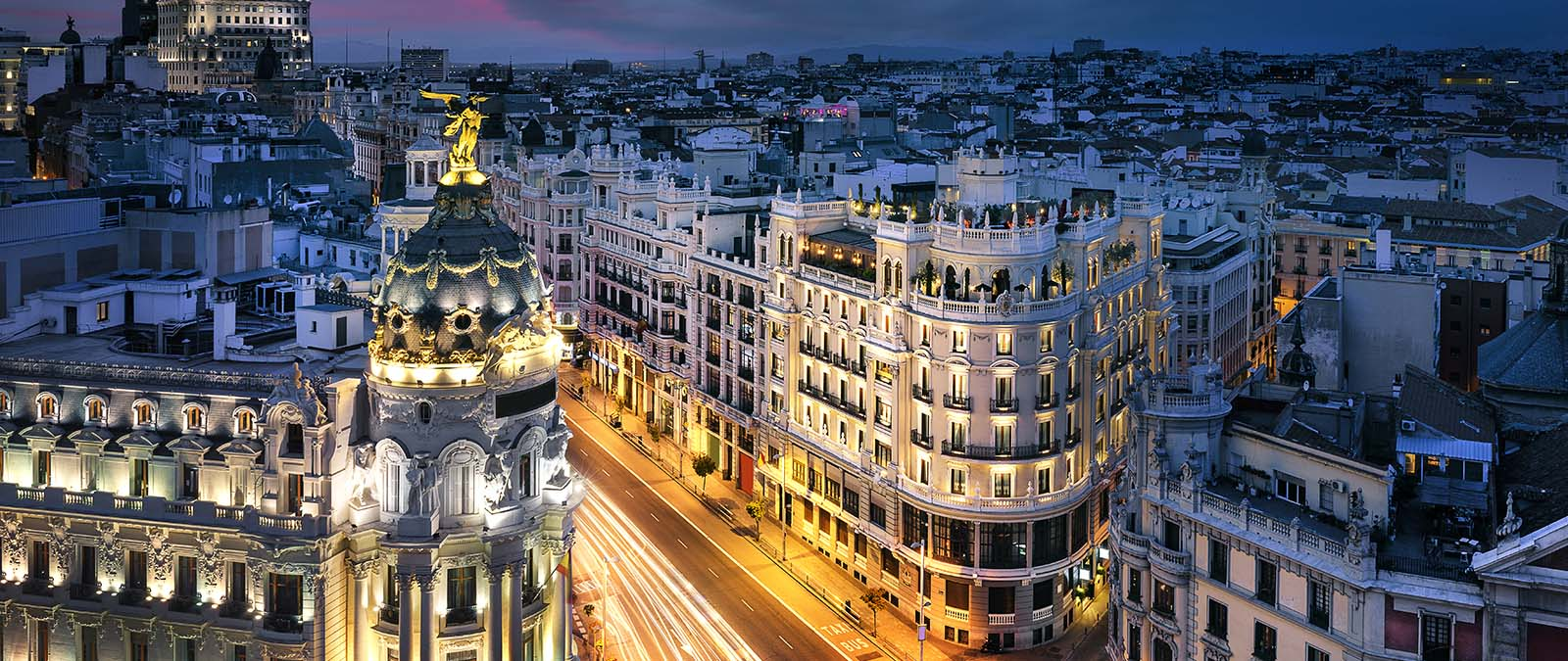 Gran Via in Madrid City Center