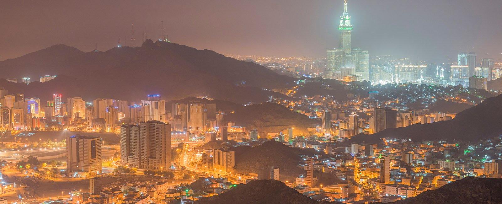 View of Mecca City in Saudi Arabia