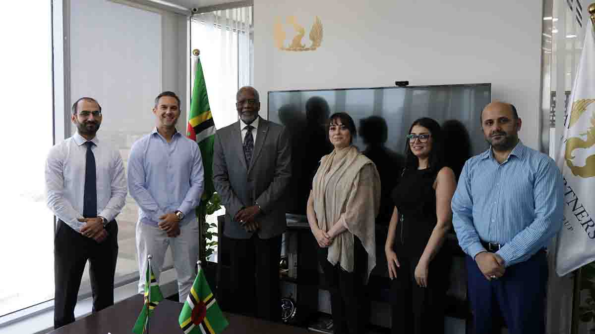 Ambassador from Dominica in the UAE visits Savory & Partners in Dubai office