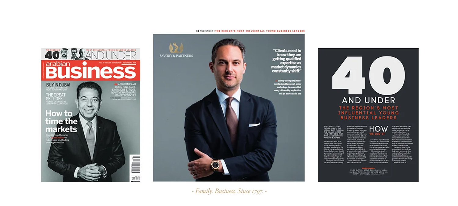 """Arabian Business Magazine:""""40 And Under - The Region's Most Influential Young Business Leaders"""""""