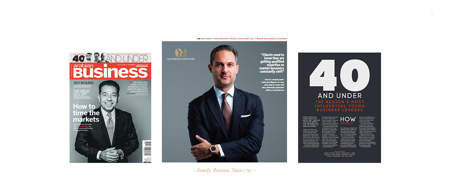 Arabian Business Magazine: 40 And Under - The Region's Most Influential Young Business Leaders